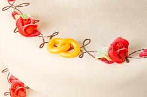 Bröllopstårta närbild 3