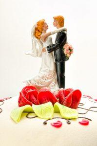 Bröllopstårta närbild 1