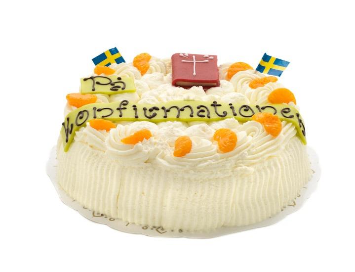 Konfirmationtårta