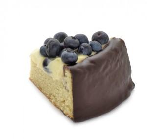 Muffinstårta blåbär bit
