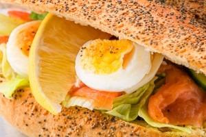 Lax och Ägg, grönsaker